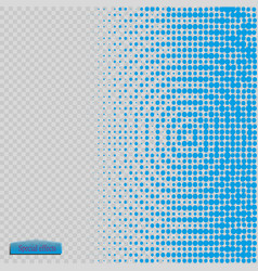 halftone pattern blue the circles to the vector image