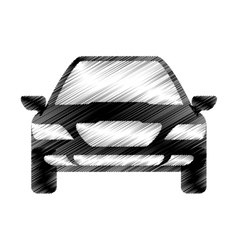 Hand drawing car sketch icon design vector