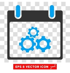 Mechanics gears calendar day eps icon vector