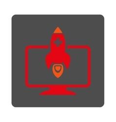 Medical startup flat button vector