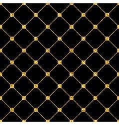 Rhombus seamless pattern black 2 vector image vector image