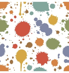 Seamless pattern of colorful stains and splashes vector