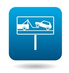 Signs of evacuation of cars icon simple style vector