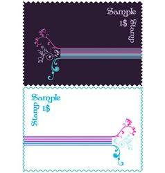 stamp design vector image vector image