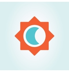 Sun and moon logo vector