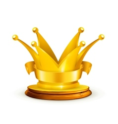 Golden crown vector image