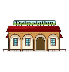 A train station vector image