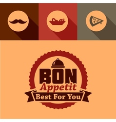 Bon appetit label vector