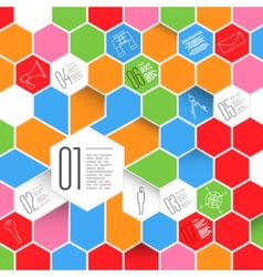 Hexagons infographic design with icon set vector