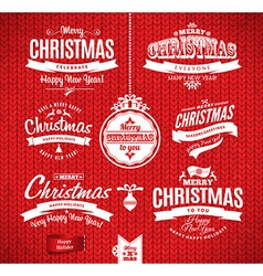 Christmas and happy new year letteringtype vector