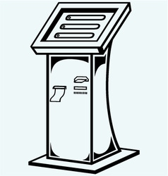Interactive information kiosk vector