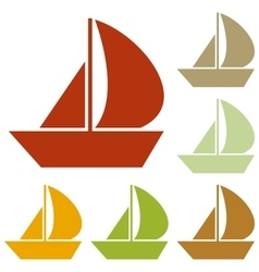 Sail boat sign vector
