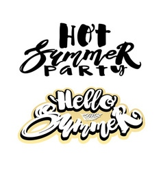 Summer concept hand lettering motivation poster vector
