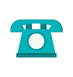 Blue telephone  over white vector