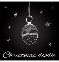 Christmas toy in doodle style vector