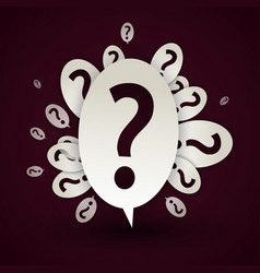 abstract question mark speech bubble vector image