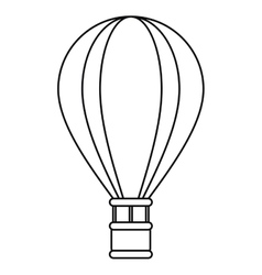 Airballoon travel recreation adventure outline vector