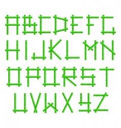 bamboo alphabet vector image vector image