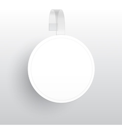 Blank round wobbler with transparent strip vector