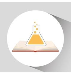 Book open laboratory concept school graphic vector