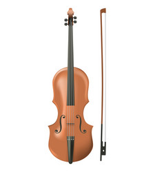cello on white background vector image