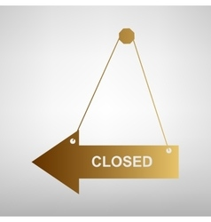 Closed sign flat style icon vector