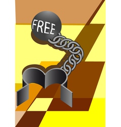 convicts ball and chain vector image vector image
