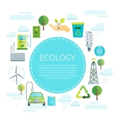 Earth Ecology Design vector image