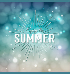 enjoy the summer time typographic design vector image vector image