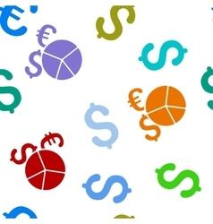 Financial pie chart flat seamless pattern vector