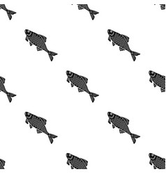 Fish icon in black style isolated on white vector