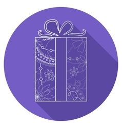 Flat icon of present vector image vector image