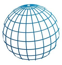 globe meridians vector image
