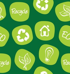 Green environment and recycle background vector