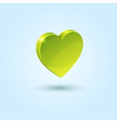 Green favorites icon vector image