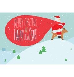 Greeting Christmas vector image