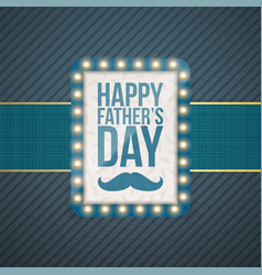 happy fathers day greeting blue banner vector image