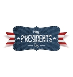 Happy presidents day retro striped blue banner vector