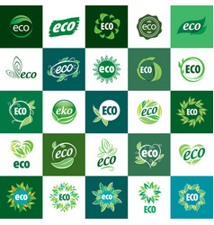 Icon eco vector