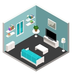 isometric furniture vector image vector image