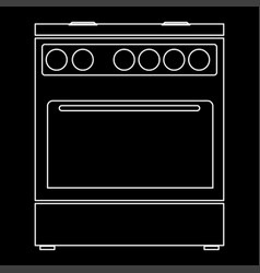 Kitchen stove the white path icon vector