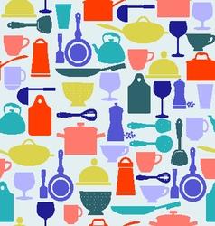 kitchen tool background Kitchenware vector image vector image