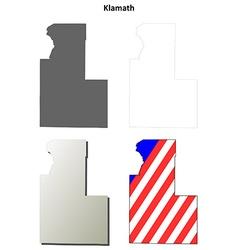 Klamath map icon set vector