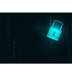 Lock abstract blue futuristic english code vector