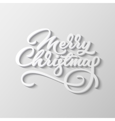 Merry christmas lettering badge vector