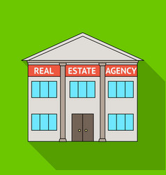 office real estate agencyrealtor single icon in vector image vector image
