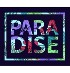 paradise tropical plant print T-shirt vector image vector image