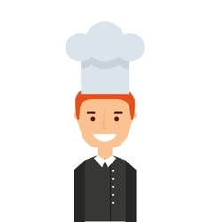 professional chef isolated icon design vector image