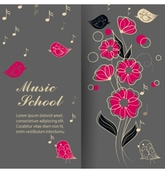 singing birds and flower vector image vector image