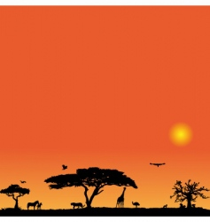 vector background with Africa vector image